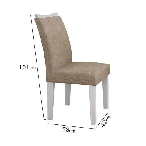 conjunto mesa pampulha 1,80 100% mdf 6 cadeiras leifer