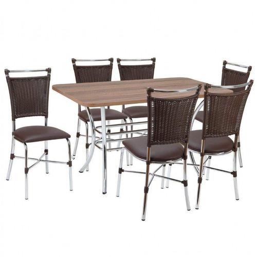 conjunto mesa retangular em mdp e 6 cadeiras 1892 bi