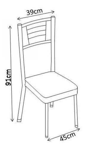 conjunto mesa tampo vidro lion com 4 cadeiras juliana je