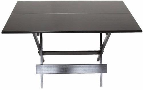 conjunto mesas 4 cadeiras dobraveis 120x70 madeira lei bares