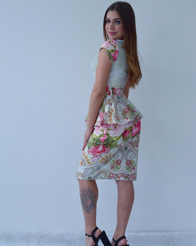 conjunto mid evangélico acinturado feminino saia blusa
