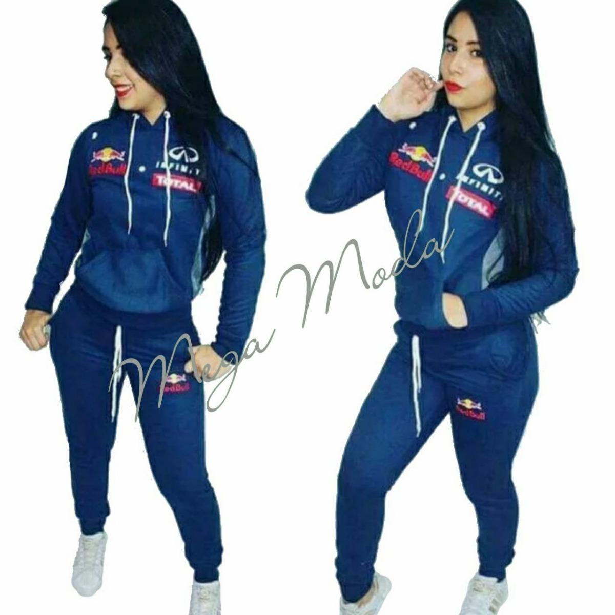 Conjunto Moletom Feminino Moleton Red Bull Infiniti