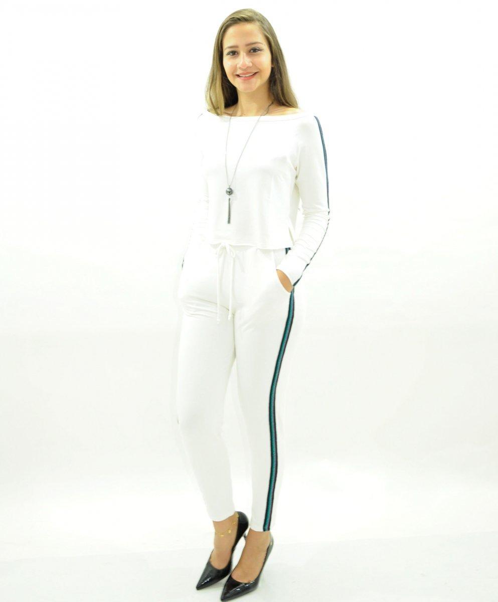 28b898fa3 conjunto moleton feminino calça com faixa na lateral. Carregando zoom.