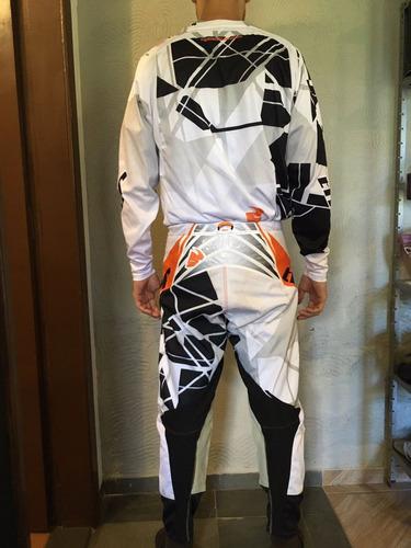 conjunto motocross thor core - calça e blusa (trilha, ktm)