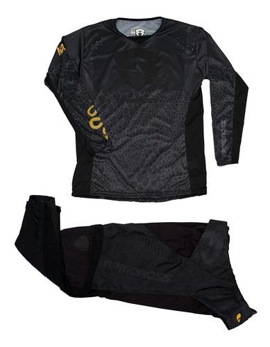 conjunto motocross/enduro rpm mamba negro. en gravedadx