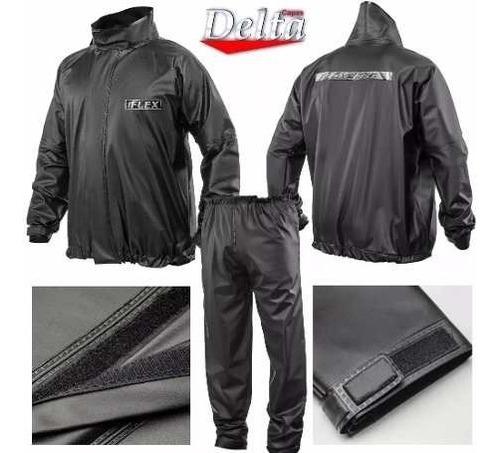 conjunto motoqueiro impermeável capa chuva delta prova dágua
