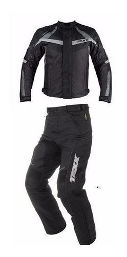 conjunto motoqueiro jaqueta texx new falcon +calça texx tour