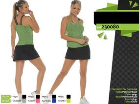 4a3ae719e Conjunto Mujer Falda Blusa Deportivo Fabrica Medellin 230080