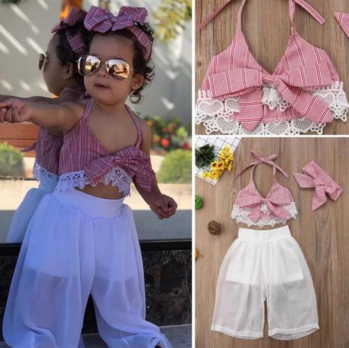 conjunto nina ( short, pantalon,blusa mono)  talla 1-5 anos