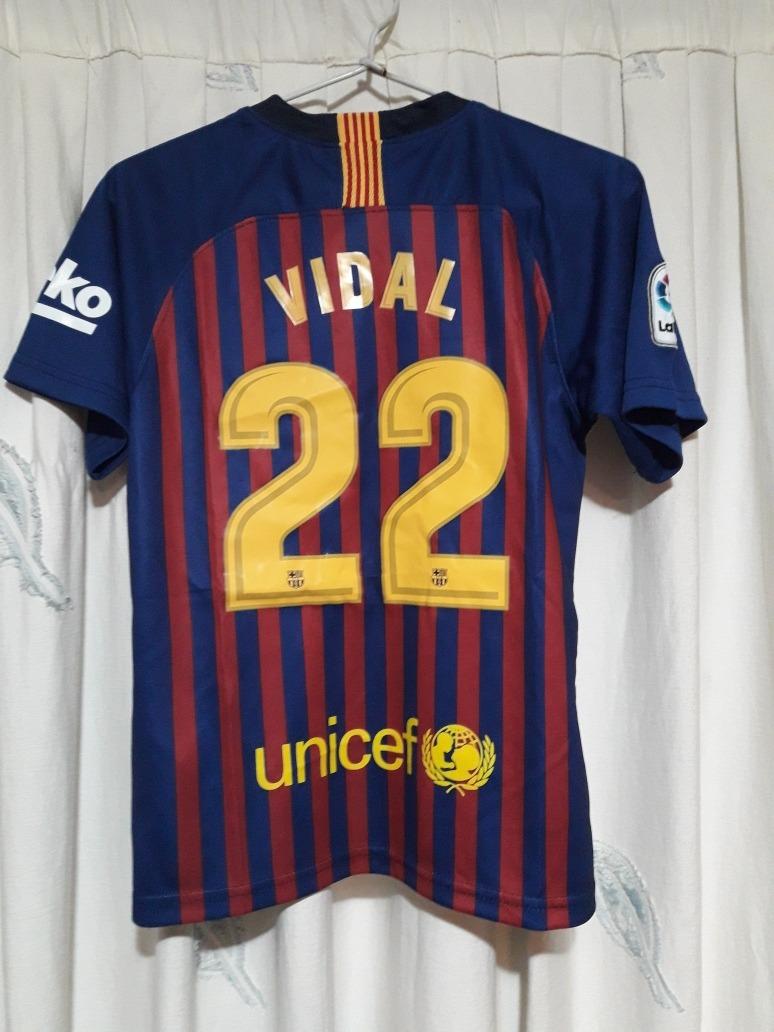 Conjunto Niños Barcelona Vidal - Messi 2018 -2019 -   30.000 en ... efacbd70e68