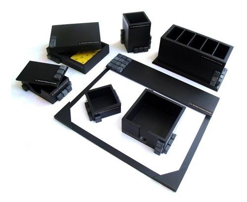 conjunto organizador de mesa de escritório com 7 peças