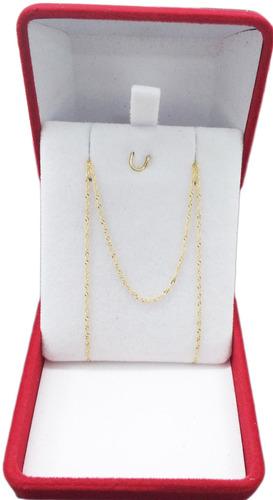 conjunto oro 18 k cadena y cristo 2,1 gramos joyeria esponda