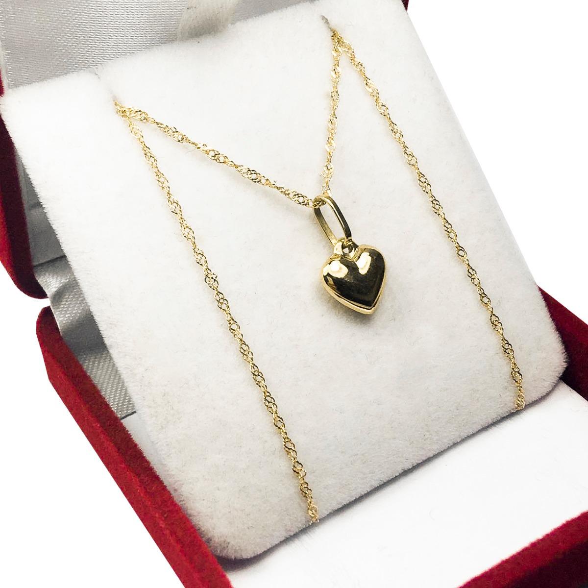 785b622217b7 conjunto oro 18k cadena singapur c  dije corazón 1.3 grs. Cargando zoom.