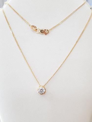 conjunto oro 18k cadena y susano 3grs 40cm brumat
