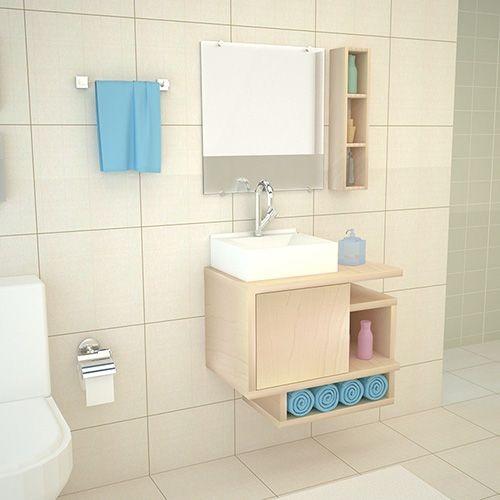 Adesivo Para Salao De Jogos ~ Conjunto P Banheiro Toucador,cuba,espelho+armário Aéreo