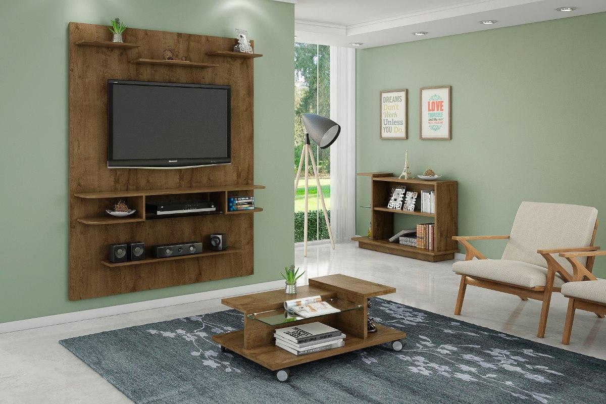 Artesanato Joao Pessoa Paraiba ~ Conjunto Painel Tv, Mesa De Centro E Aparador Sala Rústico R$ 689,70 em Mercado Livre