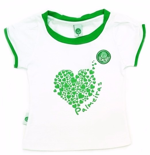Conjunto Palmeiras Infantil Short Saia Oficial Menina - R  109 36f58c3a3d383
