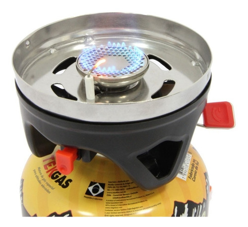 conjunto panela e fogareiro jet cook alumínio - azteq + nf