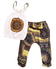 Blusa Pantalón Polera Niñas Conjunto Liviano Hippie cFK1TlJ
