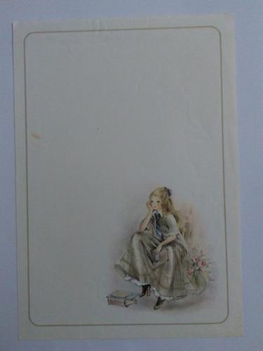 conjunto papel de carta coleção júlia anos 80 lote 151