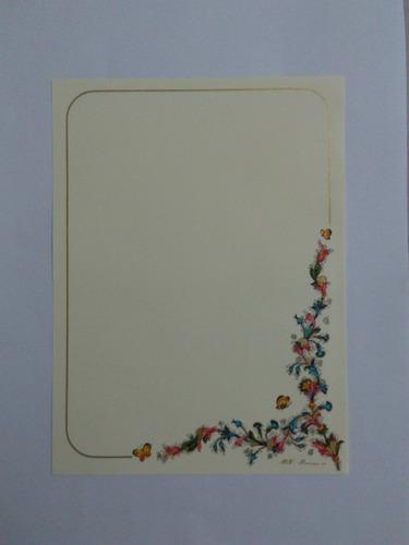 conjunto papel de carta florentino importado lote 152