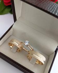 7575cce42 Par De Aliança De Namoro Dourada - Joias e Bijuterias no Mercado Livre  Brasil