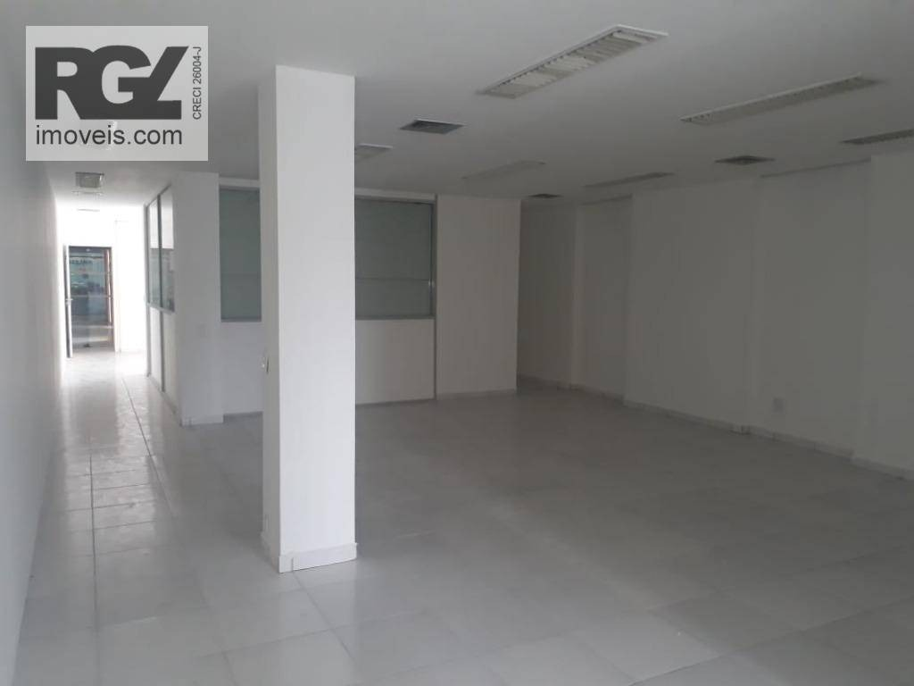 conjunto para alugar, 142 m² por r$ 3.100/mês - centro - santos/sp - cj0036