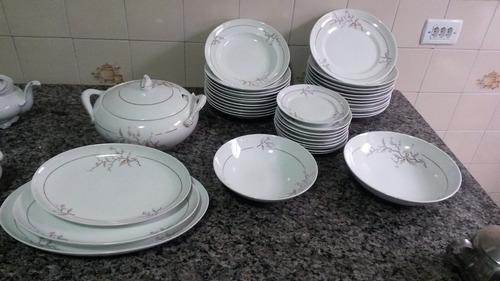 conjunto para mesa antiga de porcelana ( leia a descrição )