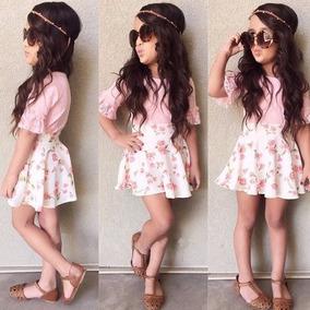 0a52ef0e3 Conjunto Para Niña Falda Y Camisa Hermoso Talla 3 Bebe Moda