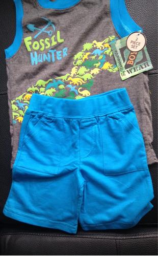 conjunto para niño esqueleto+pantaloneta importado lindos