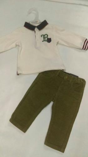 conjunto para niño mayoral con pantalón de pana