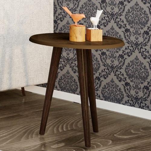 conjunto para sala estar com mesa lateral e apoio rústico