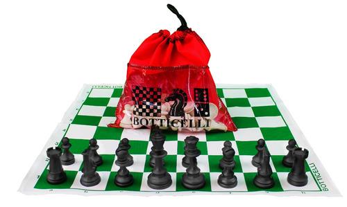 conjunto para xadrez oficial, tabuleiro + peças + sacolinha