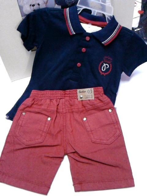 d20883c1cca Conjunto Paraiso Menino Bebe Camisa Polo Bermuda Jeans 5987 - R  99 ...