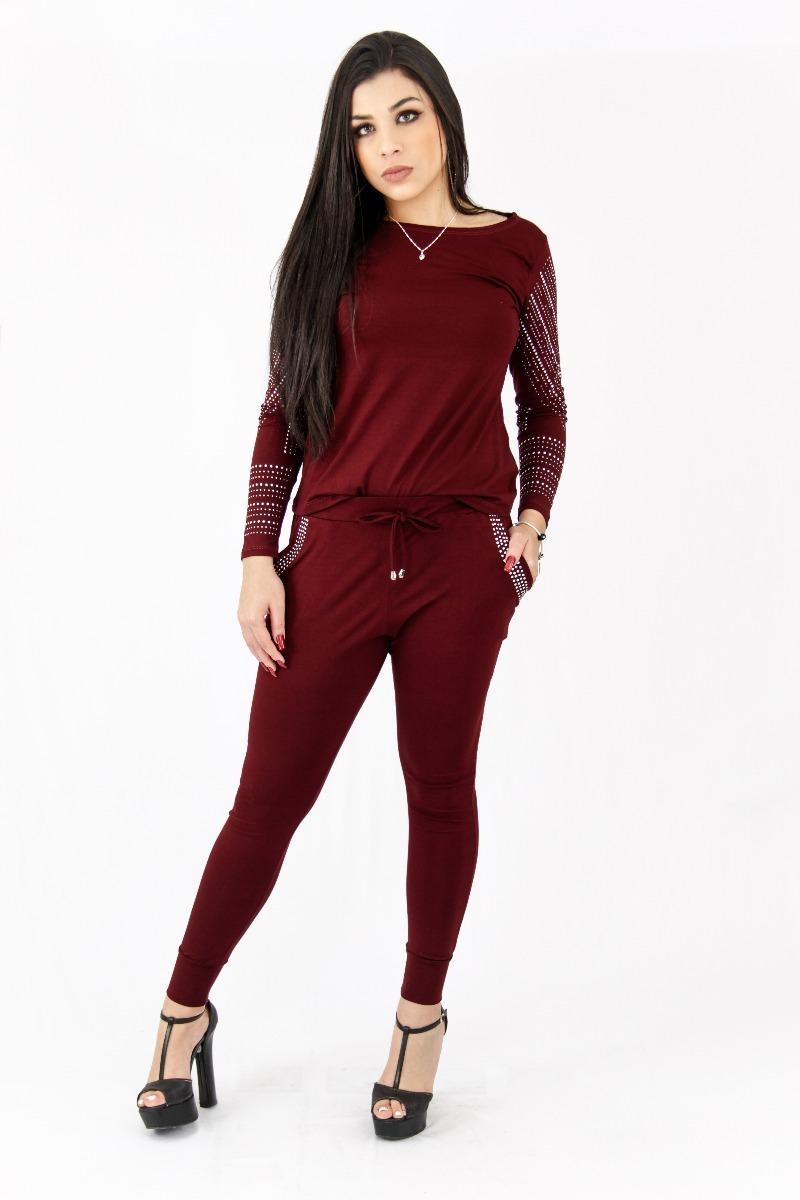 Conjunto Pedraria Top Moda 2018 Roupas Femininas Moda Mulher - R  69 ... a710fee6a77