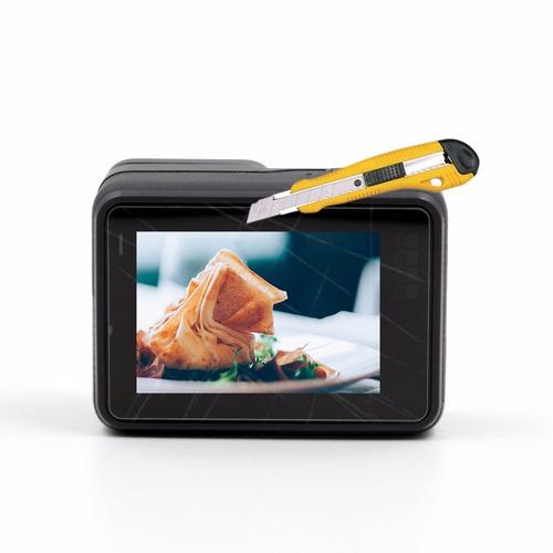 conjunto película vidro gopro hero 5 6 7 tela lcd e lente