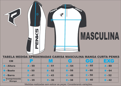 conjunto penks. camisa + bermuda speed biking + manguito