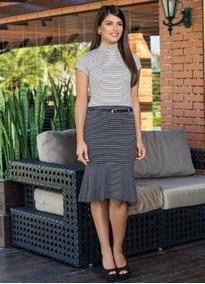 50412e7f46 Conjunto Peplum Feminino Plus Size - Calçados