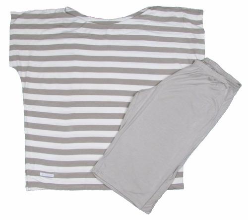 conjunto pijama bermuda em viscose
