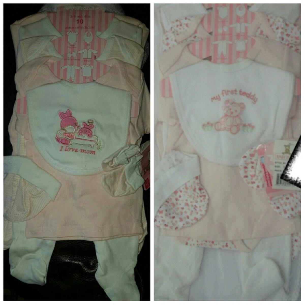 Conjunto pijama para bebes 10 piezas 0 9 meses bs 48 for Piezas para bebes
