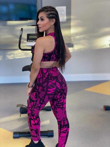conjunto pink - rockers wear fitness