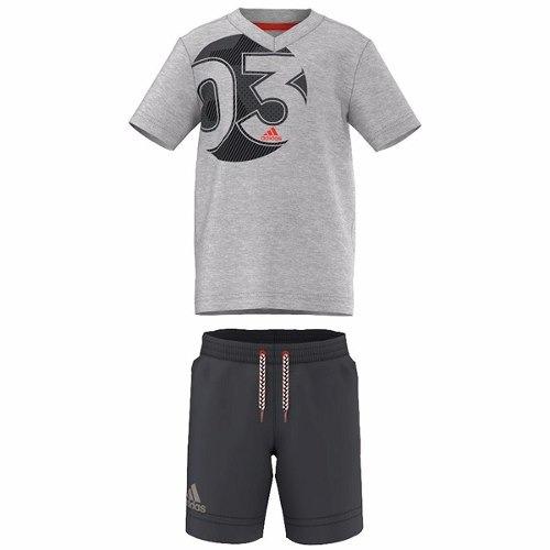 conjunto playera con shorts summer bebe niño adidas ak1930