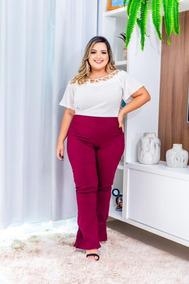 acc1d0b575ba Kit Blusa Crepe Estampadas Viscose Plus Size - Camisetas e Blusas com o  Melhores Preços no Mercado Livre Brasil