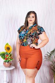47bb065cf Conjunto Short E Blusa Feminino Plus Size - Calçados, Roupas e Bolsas no  Mercado Livre Brasil