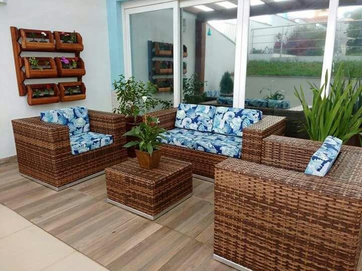 Conjunto poltronas jogo fibra sint tica junco vime varanda for Conjunto jardin fibra sintetica