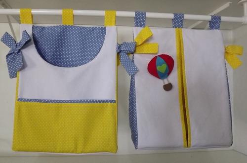 conjunto porta fralda e porta trecos (ou roupa suja).