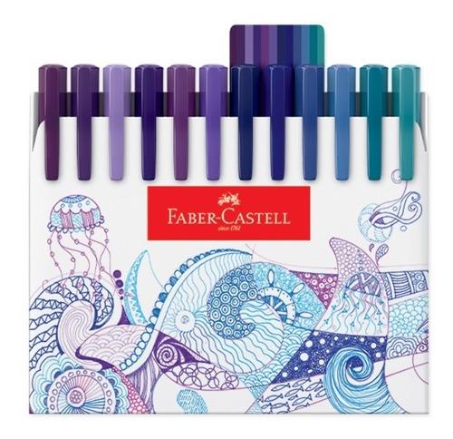 conjunto presente caneta fine pen cj 48 faber castell *super
