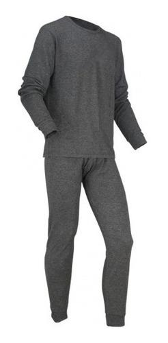 conjunto primera capa polera y pantalon lycra gris