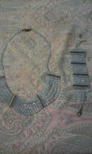 conjunto pulseira e cordão