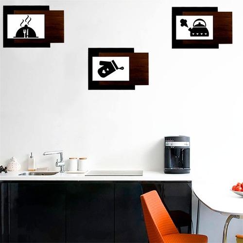 conjunto quadro decorativo - ambiente cozinha